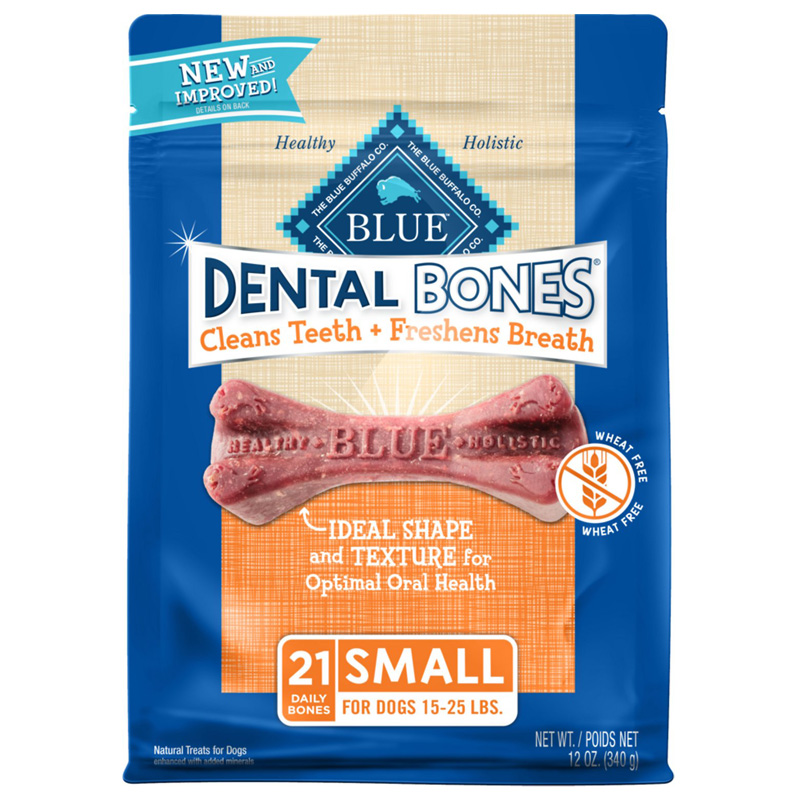 Blue Buffalo BLUE Bones Natural Dental Chew Bones Dogs Small for Dogs 15-25 lbs 7820689b