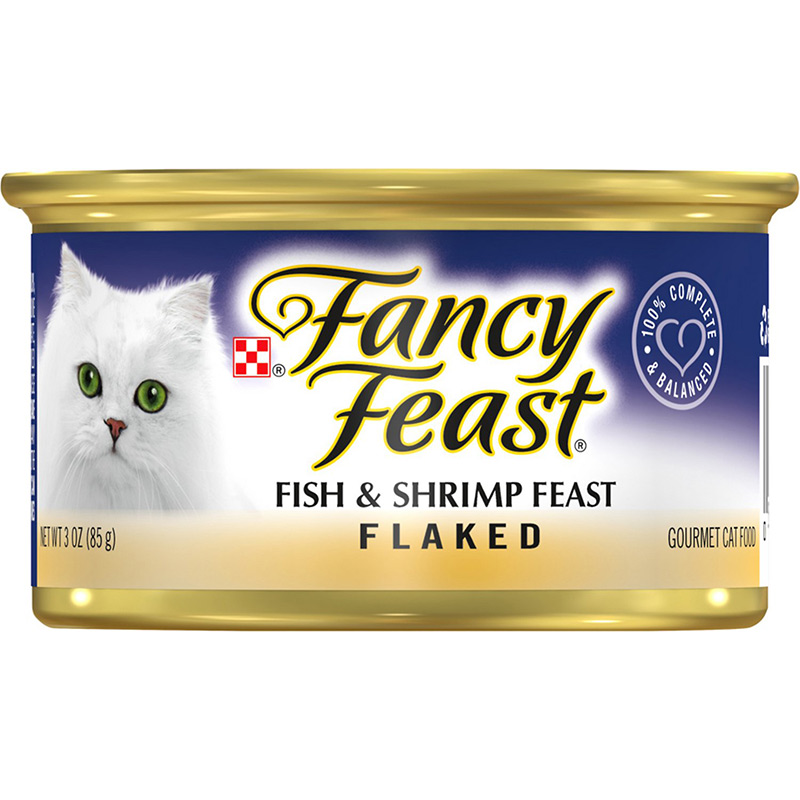 Fancy Feast Flaked Fish and Shrimp Gourmet Cat Food 3oz 79501