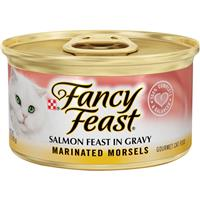 Fancy Feast Marinated Morsels Salmon Gourmet Cat Food 3oz 79587