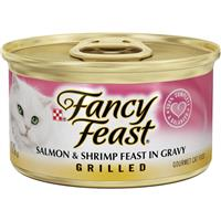 Fancy Feast Grilled Salmon and Shrimp Gourmet Cat Food 3oz 79597