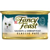 Fancy Feast Gourmet Naturals Wild Alaskan Salmon and Shrimp Cat Food 3oz 79598