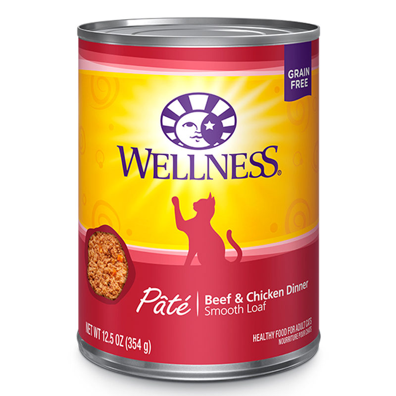 Wellness Beef and Chicken Canned Cat Food 908943b