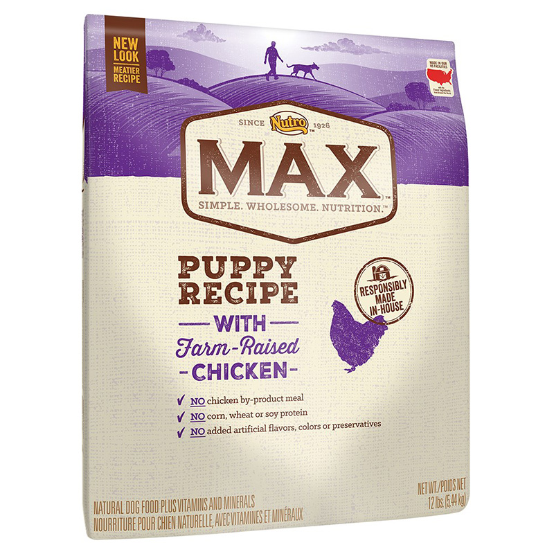 Nutro Max Puppy Recipe with Farm Rasied Chicken I013253b