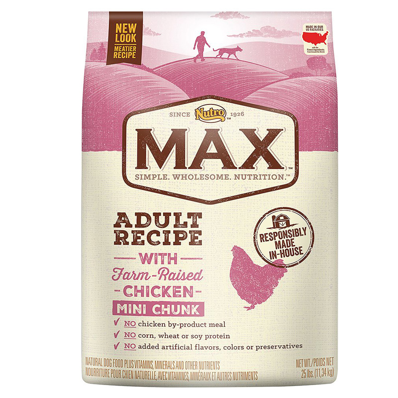 Nutro® MAX® Adult Mini Chunk Natural Chicken Meal & Rice Recipe 92473B