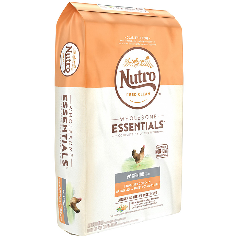 Nutro Wholesome Essentials Large Breed Senior with Farm-Raised Chicken, Brown Rice & Sweet Potato  30 lbs. 92490