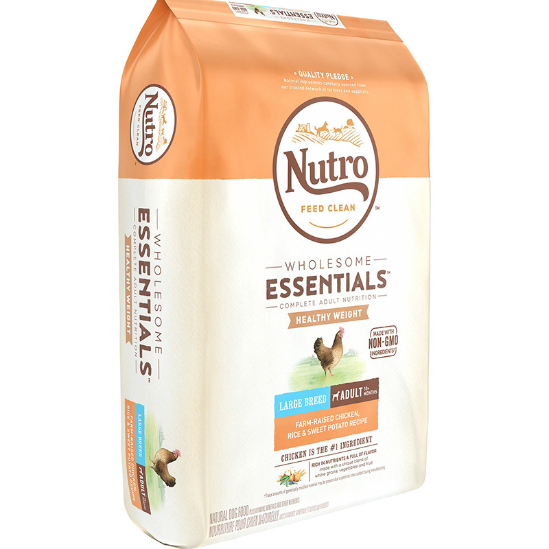 Nutro Wholesome Essentials Healthy Weight Large Breed Adult with Farm-Raised Chicken, Rice & Sweet Potato 30 lbs 92511