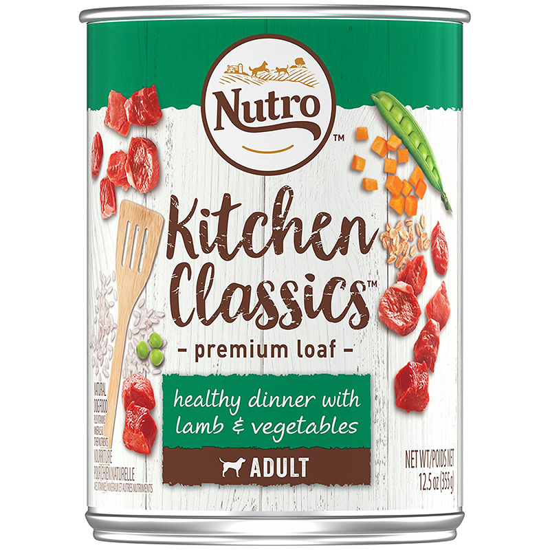 Nutro Kitchen Classics Healthy Dinner with Lamb & Vegetables Dinner Premium Loaf Canned Dog Food 12.5 oz. 92567