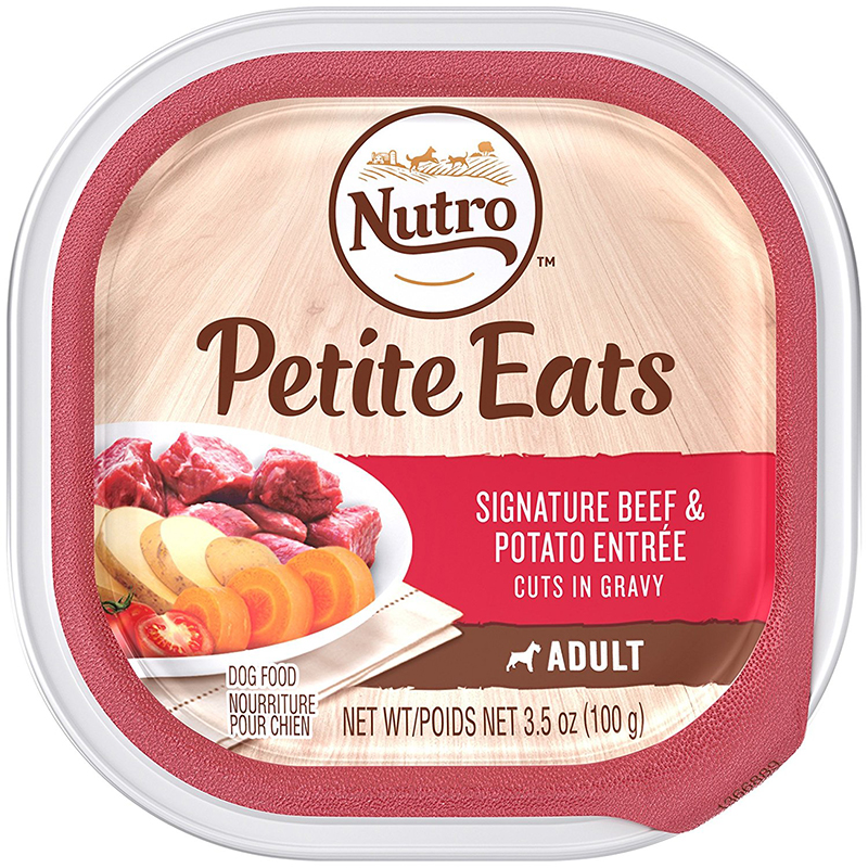 Nutro Petite Eats Signature Beef & Potato Entrée Cuts In Gravy 3.5 oz. 92754