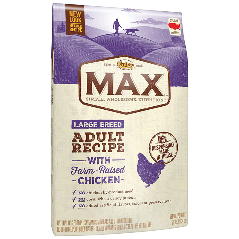 NUTRO MAX Large Breed Adult Recipe with Farm Raised Chicken 25 lbs. 92800