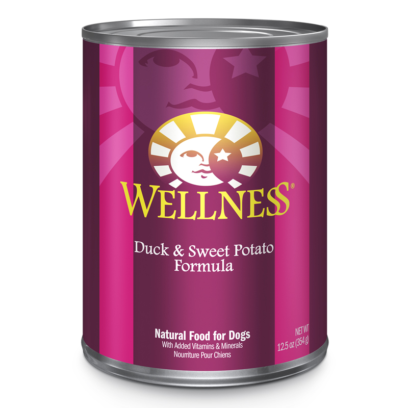 Wellness Complete Health Duck & Sweet Potato Formula Canned Dog Food 12.5 oz. 94004