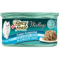 Fancy Feast Turkey Florentine with Garden Greens Cat Food 3oz 98535