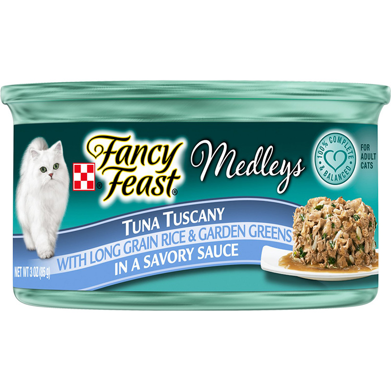Fancy Feast Tuna Tuscany With Grain Rice and Garden Greens Cat Food 3oz 98594