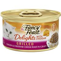 Fancy Feast Delights with Cheddar Grilled Chickenand Cheddar Cheese Cat Food 3oz 98911