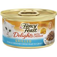 Fancy Feast Delights with Cheddar Grilled Tuna and Cheddar Cheese Cat Food 3oz 98912