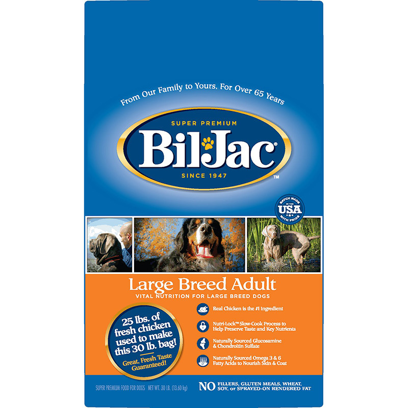 Bil-Jac Select Large Breed Adult Dog Food 30 lbs. 98969