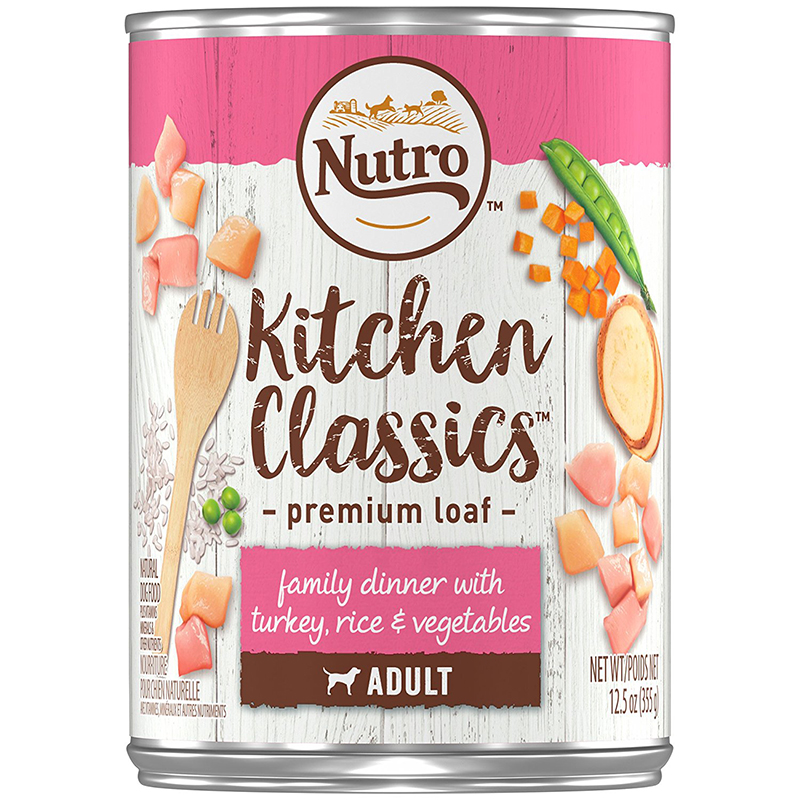 Nutro Natural Choice Turkey and Rice Formula for Senior Dogs Case of 12 - 12.5oz Cans 999923