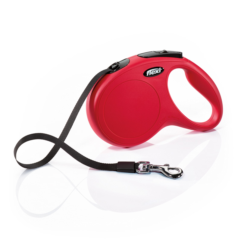 Flexi New Classic Retractable Tape Leash ft Red I000530b
