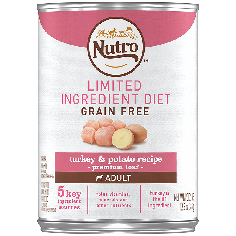 Nutro Limited Ingredient Diet Grain Free Turkey and Potato Recipe Premium Loaf Canned Dog Food 12.5 oz. I000592