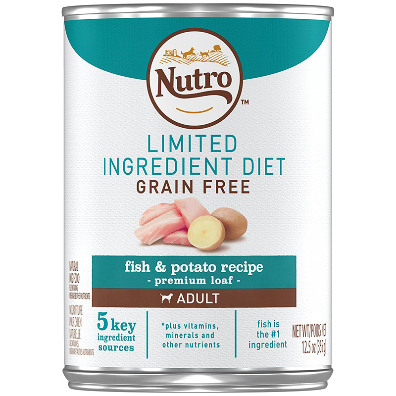 Nutro Limited Ingredient Diet Grain Free Fish & Potato Recipe Premium Loaf Canned Dog Food 12.5 oz. I000593