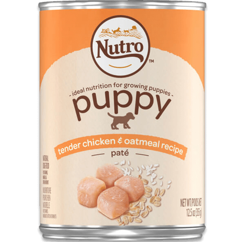 Nutro Tender Chicken & Oatmeal Recipe Pate Canned Puppy Food 12.5 oz. I000767