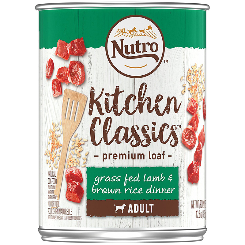 Nutro Kitchen Classics Grass Fed Lamb & Brown Rice Premium Loaf Canned Dog Food 12.5 oz. I001290