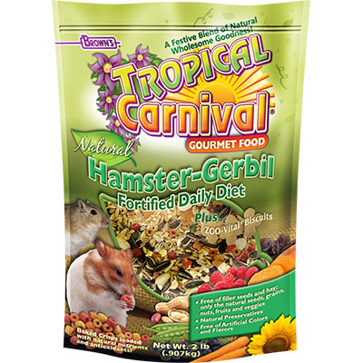 Brown's® Tropical Carnival® Natural Pet Hamster-Gerbil Fortified Daily Diet 2 lbs. I001346
