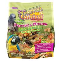 FM Brown's Tropical Carnival Big Bites Biscuits Parrot & Macaw Bird Food 4 lb Bag I001351