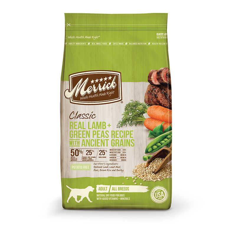 Merrick® Classic Adult All Breeds Real Lamb with Brown Rice + Apple Recipe Dog Food 25 lbs. I001456