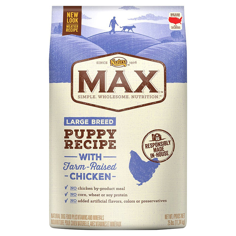 NUTRO MAX Large Breed Puppy Food 25 lbs. I001610