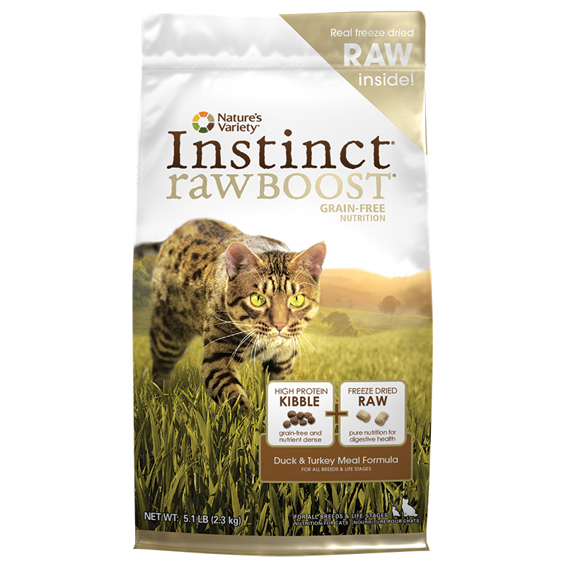 Nature's Variety Instinct Raw Boost Grain-Free Duck & Turkey Meal Formula 5.1 lbs. I001662