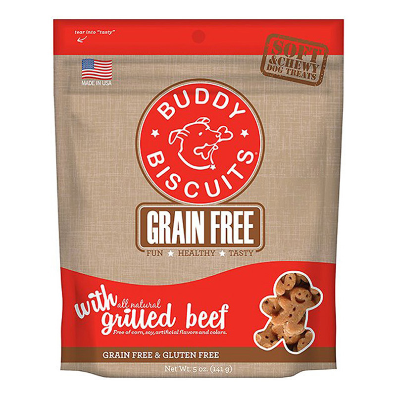 Cloud Star® Grain Free Buddy Biscuits™  Dog Treats Slow Roasted Beef 5 oz. I002322