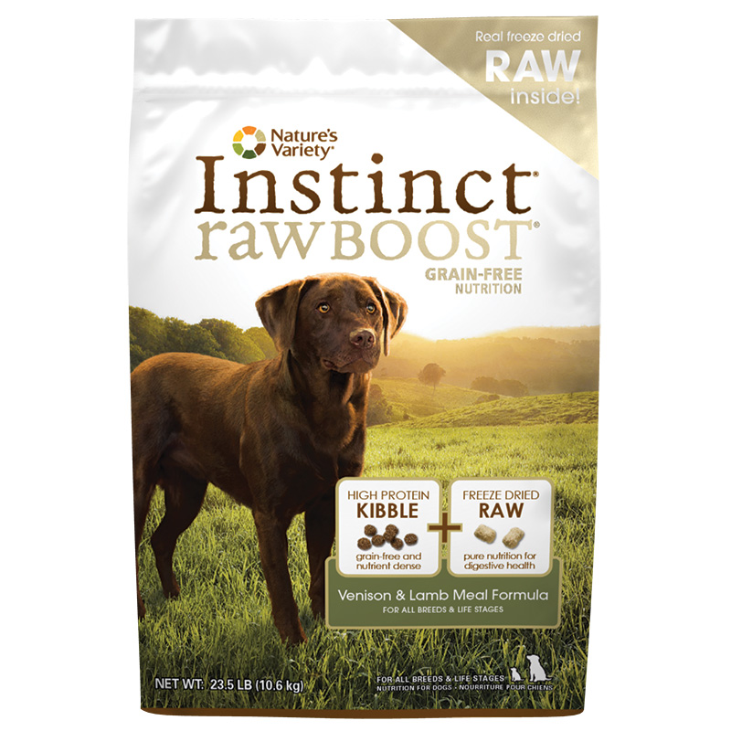 Nature's Variety Instinct Raw Boost Venison & Lamb Meal Formula 23.5 lbs. I002415