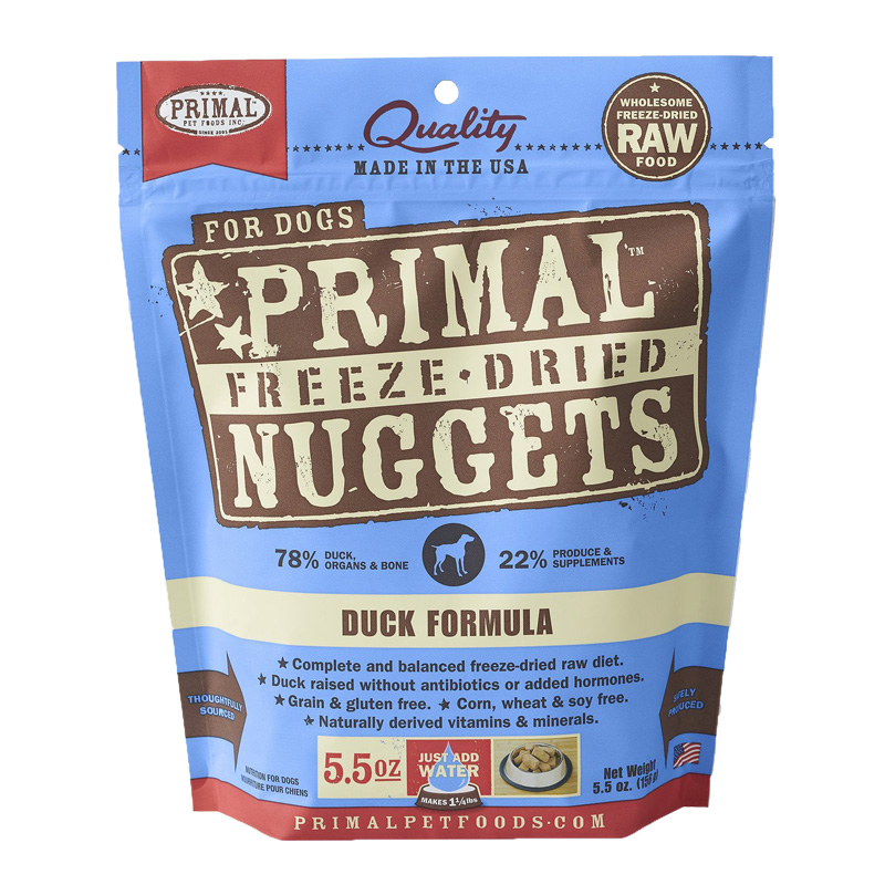 Primal Freeze-Dried Nuggets Duck Formula Dog Food 5.5 oz I002828