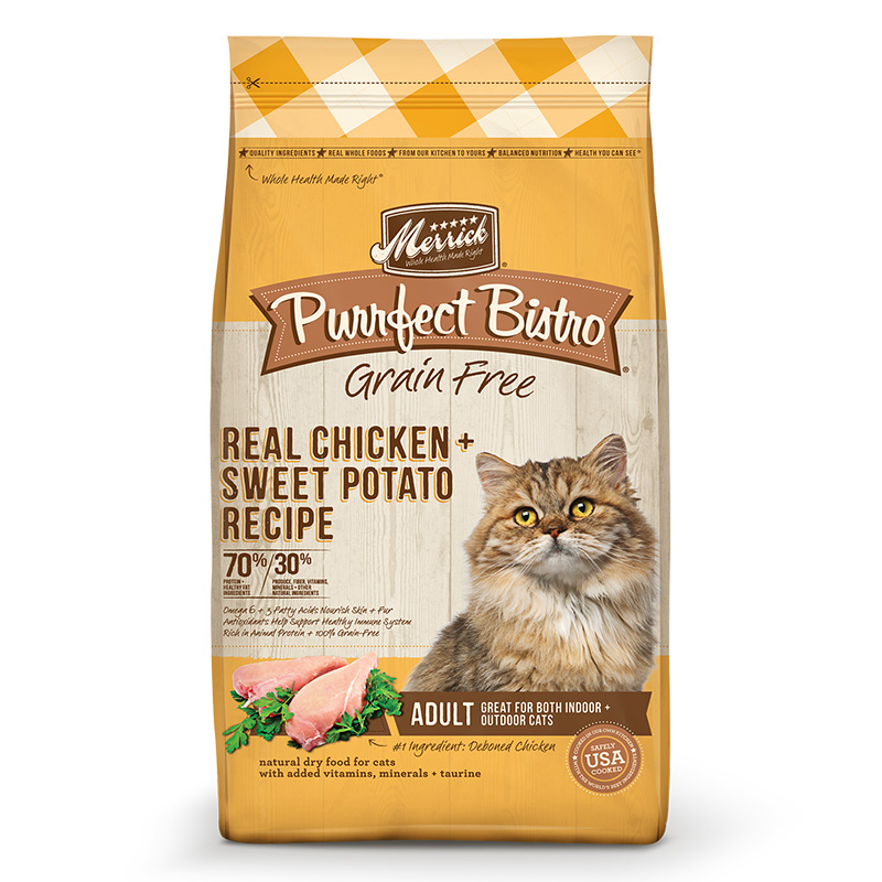 Merrick® Purrfect Bistro Grain Free Healthy Adult Chicken Cat Food 4 lbs. I003467