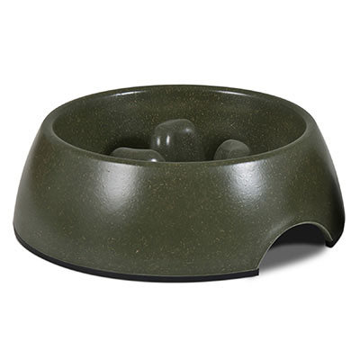 Petmate® Bamboo Slow Feed Bowl I003583