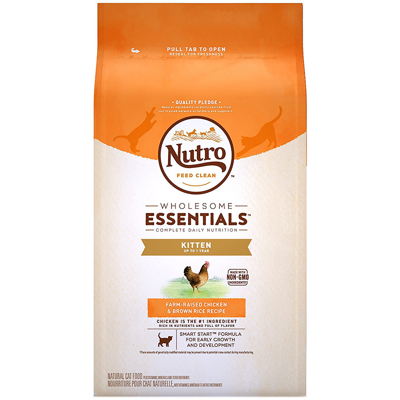 Nutro Wholesome Essentials Kitten Food Chicken & Whole Brown Rice Recipe 3 lbs. I003588