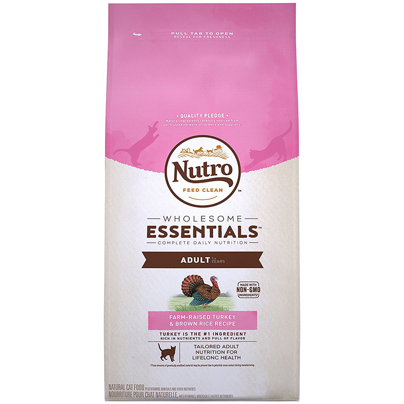 Nutro Wholesome Essentials Adult Cat Food Turkey & Whole Brown Rice Recipe 6.5 lbs. I003591