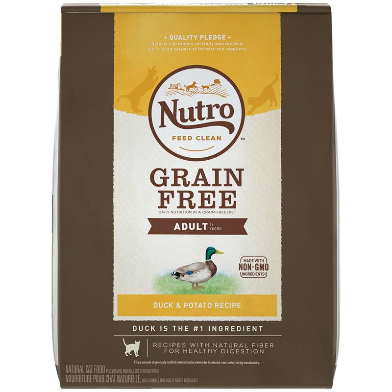 Nutro Adult Cat Grain Free Duck and Potato Recipe Cat Food 6.5LB BAG I003611