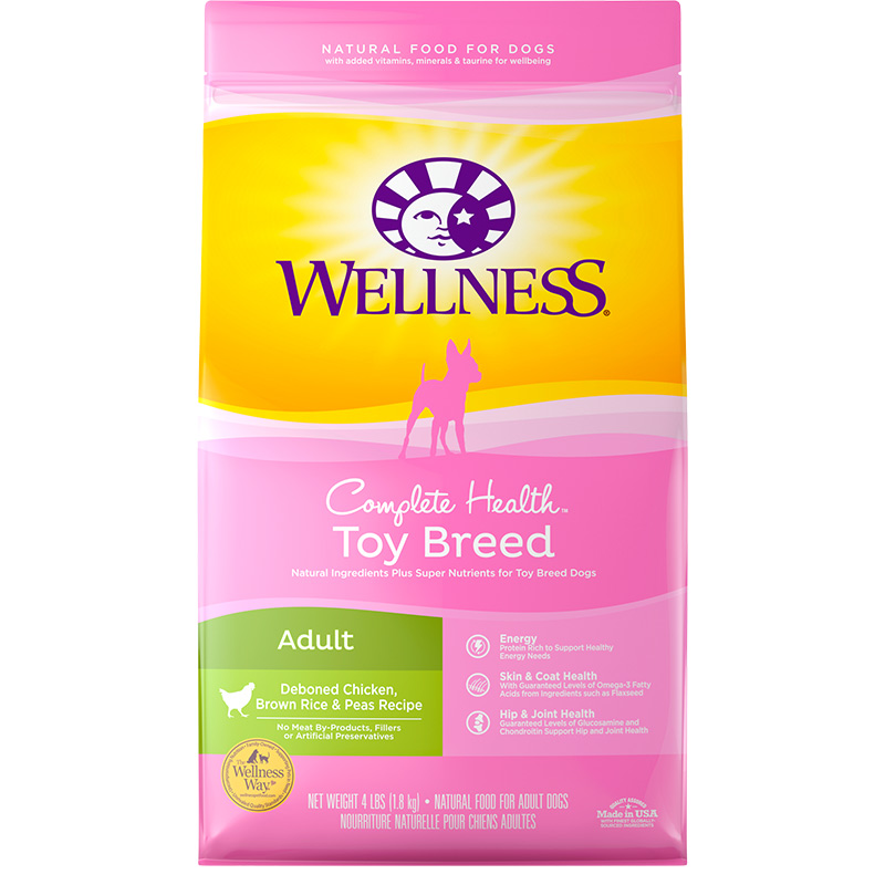 Wellness Complete Health Toy Breed Dog Food 4lb Bag I003867