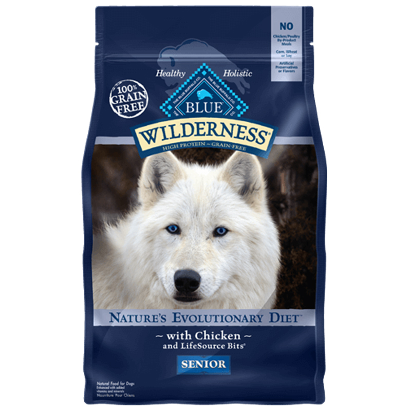 BLUE Wilderness Chicken For Senior Dogs 24lb I004160