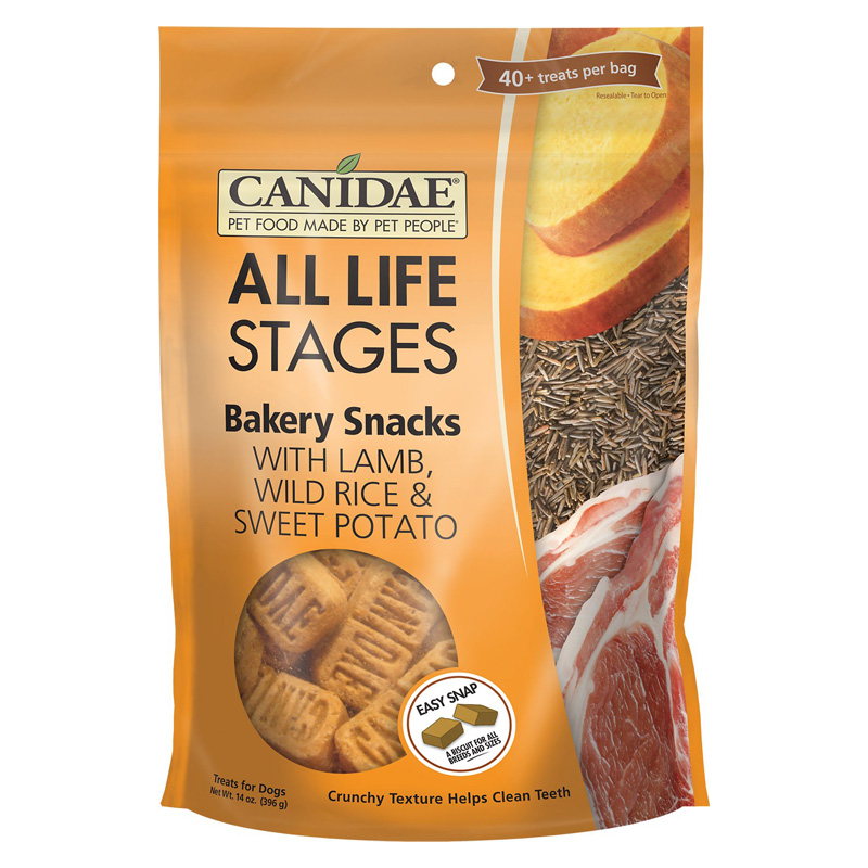 CANIDAE® Life Stages Bakery Snacks Dog Treats Lamb, Wild Rice & Sweet Potato 14 oz. I004329
