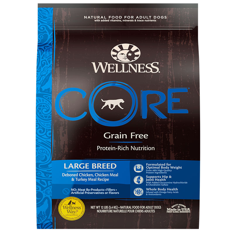 Wellness Core Large Breed Dog Food 24lbs.