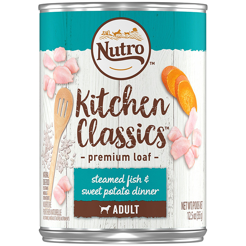Nutro Kitchen Classics Steamed Fish & Sweet Potato Dinner Premium Loaf Canned Dog Food 12.5 oz. I005482