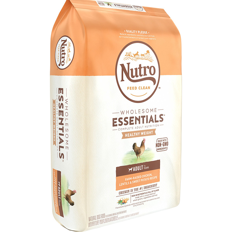 Nutro Wholesome Essentials Healthy Weight Adult with Farm-Raised Chicken, Lentils & Sweet Potato 30 lbs. I005636