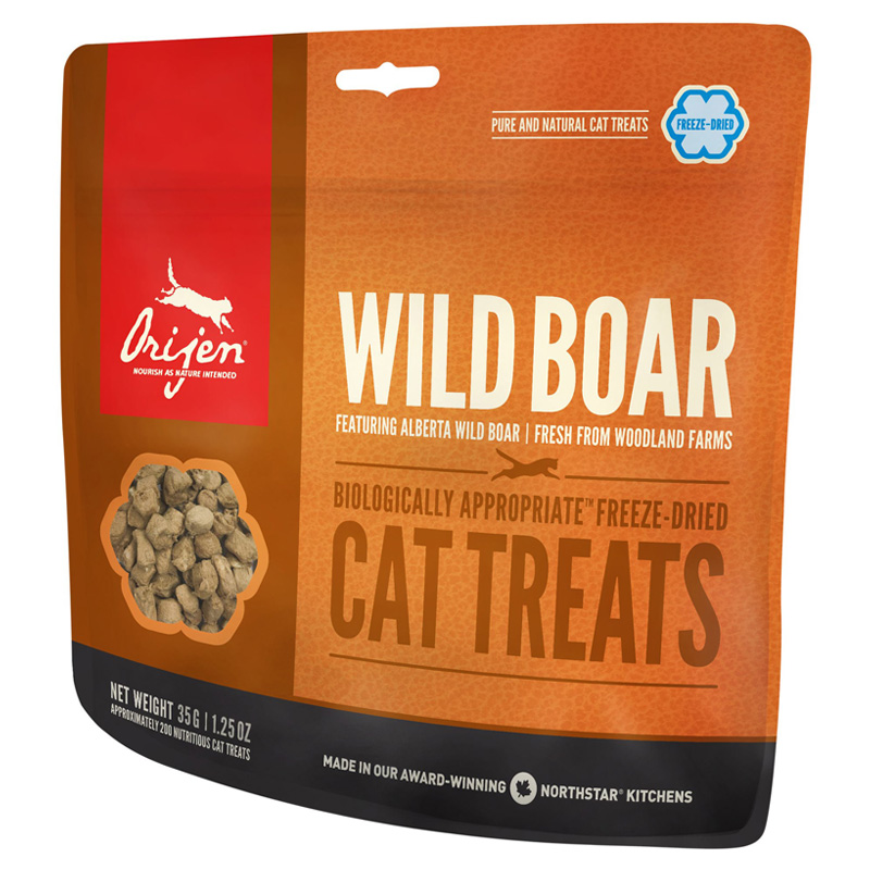 Orijen Freeze Dried Wild Boar Cat Treats 1.25 oz  I005835