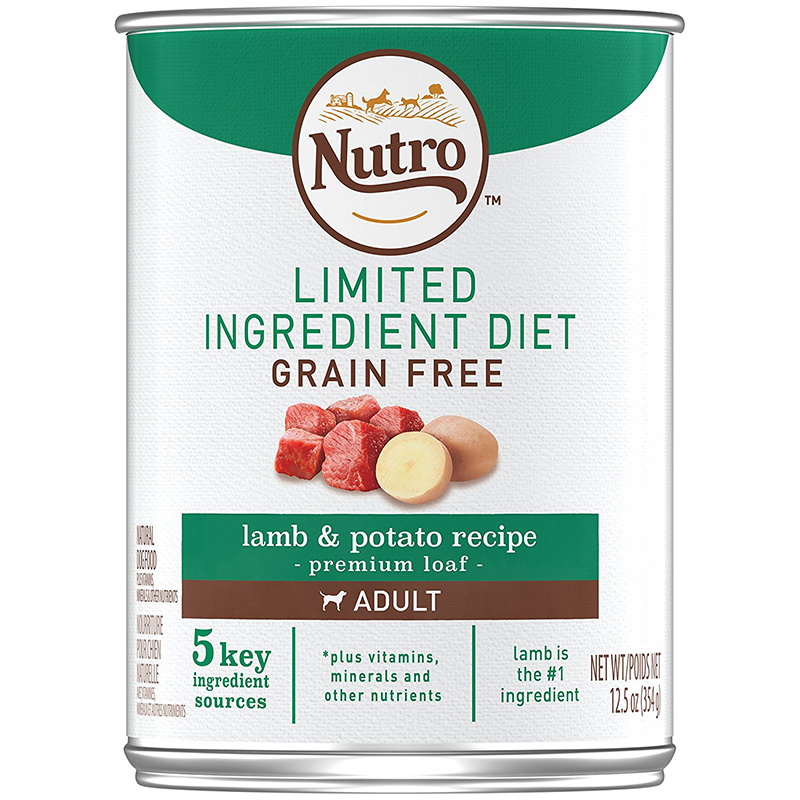 Nutro Limited Ingredient Diet Grain Free Lamb & Potato Recipe Premium Loaf Canned Dog Food 12.5 oz. I006139