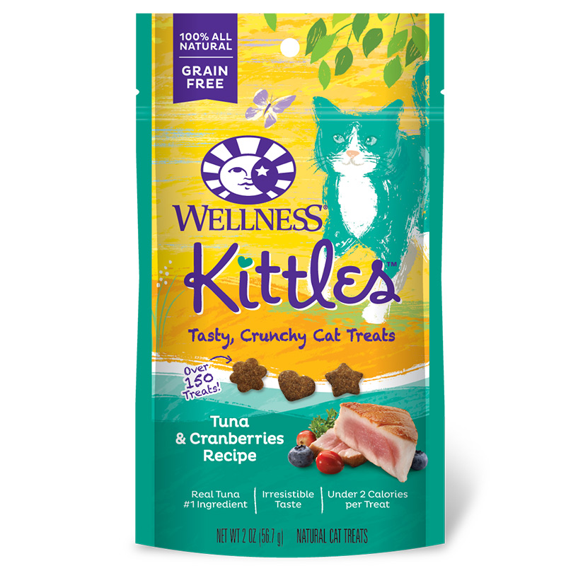 Wellnesss Kittles Tuna & Cranberries Cat Treat 2 oz. I006158