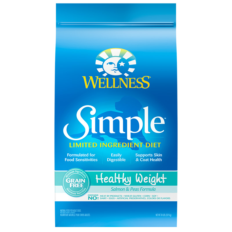 Wellness Simple Limited Ingredient Diet Healthy Weight Dog Food 24lb Bag I006170