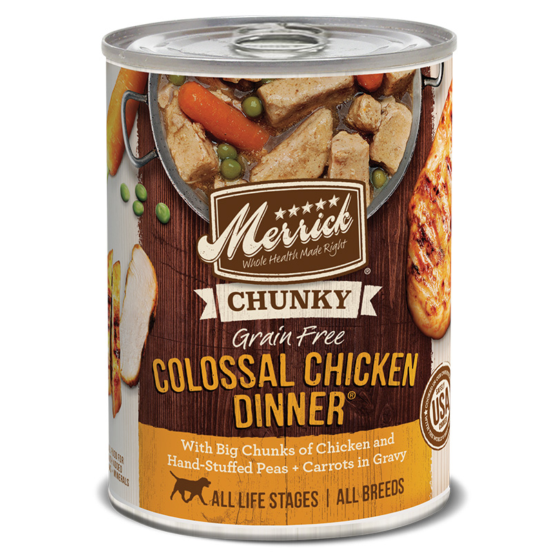Merrick Chunky Colossal Chicken Dinner Grain Free Recipe 12.7oz I006180