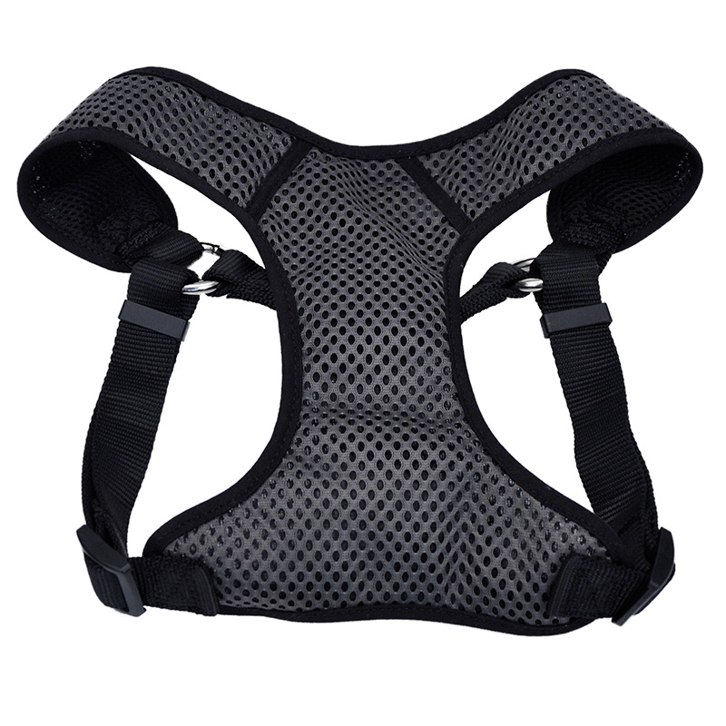 Coastal Comfort Soft Sport Wrap Adjustable Dog Harness Grery with Black  I006239b